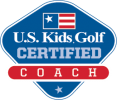 US Kids Golf Coach Logo